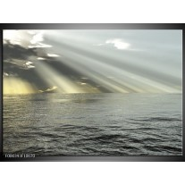 Foto canvas schilderij Zee | Grijs