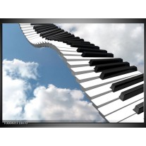 Foto canvas schilderij Muziek   Blauw, Wit, Zwart
