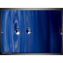 Foto canvas schilderij Druppels   Blauw, Grijs