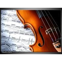 Glas schilderij Muziek   Wit, Bruin, Zwart