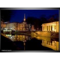 Foto canvas schilderij Stad | Geel, Zwart, Bruin