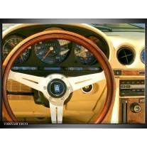 Foto canvas schilderij Auto | Geel, Bruin, Zwart