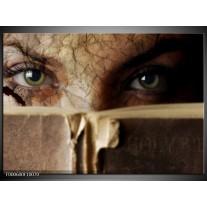 Foto canvas schilderij Ogen | Bruin, Grijs, Groen