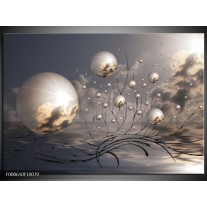 Glas schilderij Ballen | Grijs, Wit, Zwart
