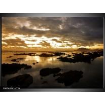 Foto canvas schilderij Zee | Bruin, Zwart, Geel