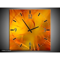 Wandklok op Canvas Abstract | Kleur: Oranje, Geel, | F000637C