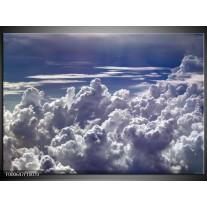 Foto canvas schilderij Wolken | Wit, Blauw