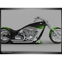Foto canvas schilderij Motor | Groen, Grijs, Zwart
