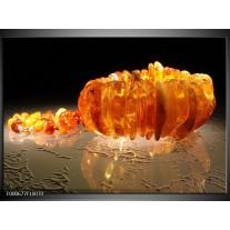 Foto canvas schilderij Macro | Oranje, Geel, Zwart