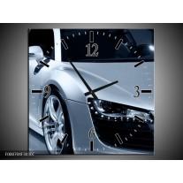 Wandklok op Canvas Auto | Kleur: Grijs, Zwart, Grijs | F000704C