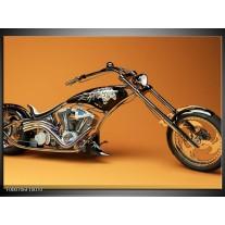 Foto canvas schilderij Motor | Oranje, Bruin, Zwart