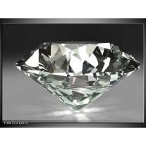 Foto canvas schilderij Diamant | Grijs, Zilver, Wit