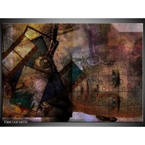 Foto canvas schilderij Motor   Groen, Grijs, Zwart