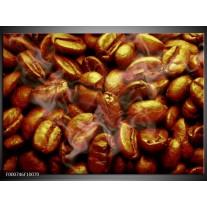 Foto canvas schilderij Koffie   Bruin, Zwart, Wit