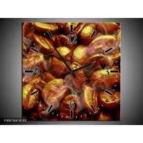 Wandklok op Canvas Koffie   Kleur: Bruin, Zwart, Wit   F000746C