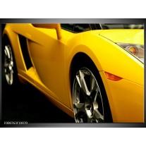 Foto canvas schilderij Auto | Geel, Zwart, Wit