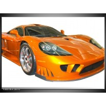 Foto canvas schilderij Auto | Geel, Oranje, Wit