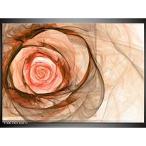 Foto canvas schilderij Roos | Rood, Bruin, Zwart