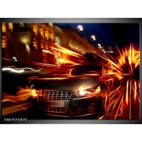 Foto canvas schilderij Auto | Rood, Oranje, Zwart