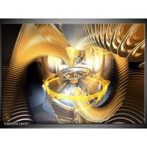Foto canvas schilderij Abstract   Geel, Goud, Bruin