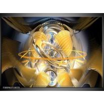 Foto canvas schilderij Abstract | Geel, Goud, Bruin