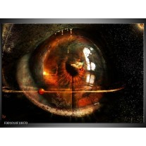 Foto canvas schilderij Abstract | Zwart, Wit