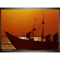 Foto canvas schilderij Boot | Bruin, Oranje