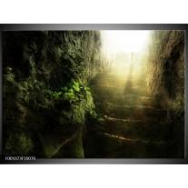 Foto canvas schilderij Landschap   Groen, Grijs, Wit