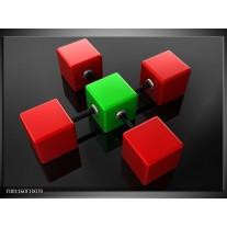Foto canvas schilderij Abstract | Rood, Groen, Zwart