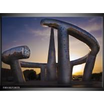 Foto canvas schilderij Kunst | Zilver, Wit