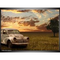 Foto canvas schilderij Auto | Grijs, Geel