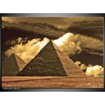 Foto canvas schilderij Piramide   Geel, Wit, Sepia