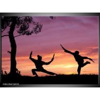 Foto canvas schilderij Sport | Paars, Wit, Geel