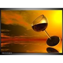 Foto canvas schilderij Wijn | Oranje, Rood, Zwart