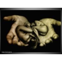 Foto canvas schilderij Lichaam | Zwart, Grijs