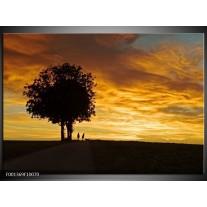 Foto canvas schilderij Natuur | Geel, Zwart, Oranje