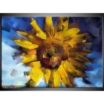 Foto canvas schilderij Abstract | Geel, Blauw