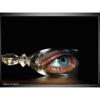 Glas schilderij Ogen | Zwart, Zilver