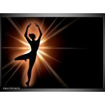 Foto canvas schilderij Dansen | Zwart, Wit