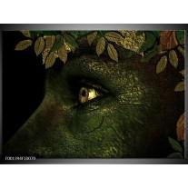 Glas schilderij Ogen | Groen, Geel, Zwart