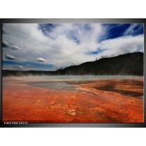 Foto canvas schilderij Natuur | Blauw, Bruin, Grijs