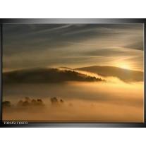 Glas schilderij Natuur | Geel, Grijs
