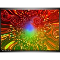 Foto canvas schilderij Abstract | Groen, Rood, Geel
