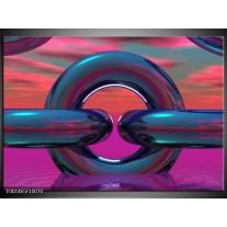 Glas schilderij Abstract | Paars, Blauw