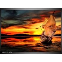 Foto canvas schilderij Natuur | Oranje, Geel, Zwart