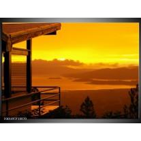 Foto canvas schilderij Natuur | Geel, Oranje, Bruin