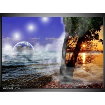 Foto canvas schilderij Natuur | Blauw, Wit, Geel