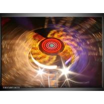Glas schilderij CD | Geel, Paars, Rood