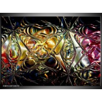 Glas schilderij Glas   Paars, Oranje, Zwart