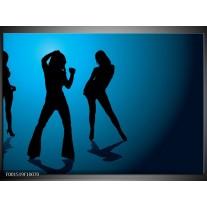 Foto canvas schilderij Dansen   Blauw, Zwart